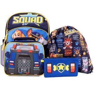 Paw patrol 5 piece backpack set and extras